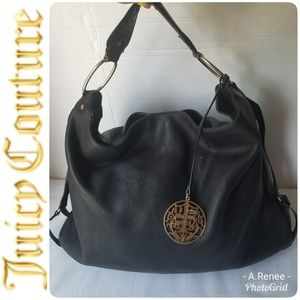 Juicy Couture 100% Pebble Large Leather Black Bag